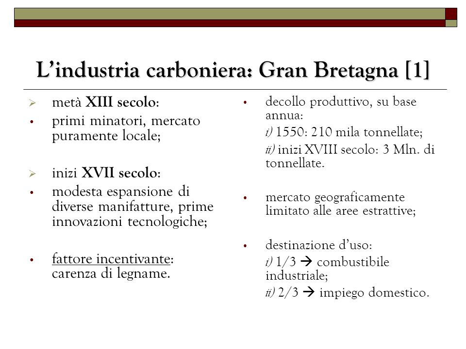 L'industria carboniera: Gran Bretagna [1]